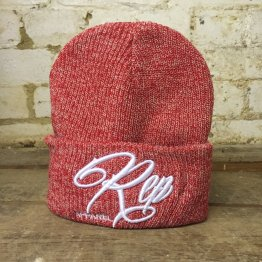 Signature Heritage Beanie -Heather/Red