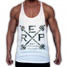 Rep Hard Muscle Stringer - Wht/Camo