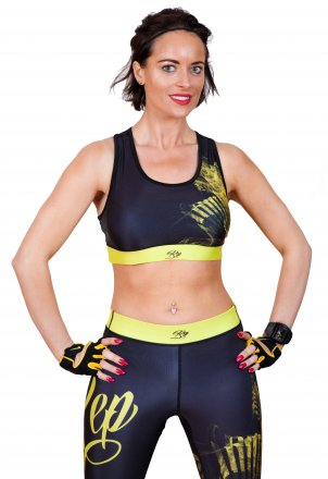 Lightning Sports Bra - Yellow