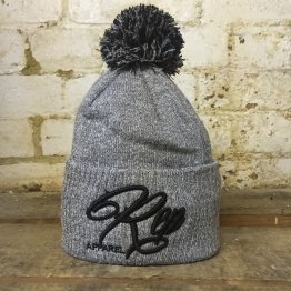 Signature Bobble Beanie -Heather/Black