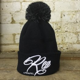 Signature Bobble Beanie -Black/White